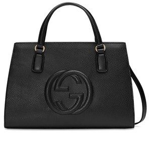 NEW Gucci Black Pebbled Leather Large Soho Disco